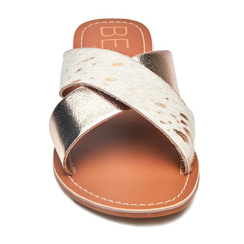Cabana Slide - Tan Suede