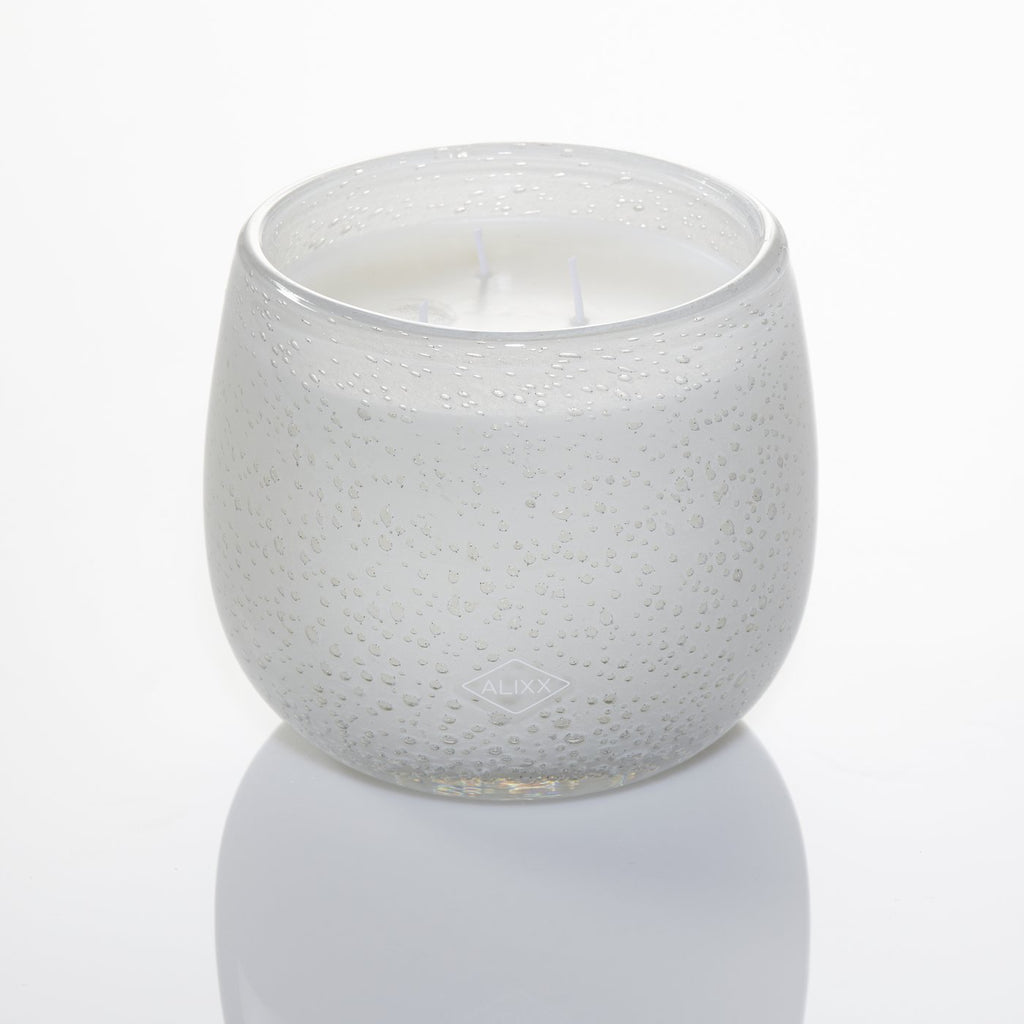 Medium 16oz Ballon Candle Fleur Blanche - White Bubble