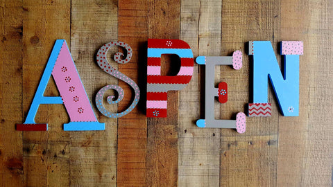 Mixed Font - 5 Letter Name - Happy Moose Garden Art