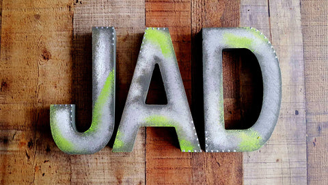 Block Letters - 3 Letter Name - Baby Name Sign - Kids Name Sign - Kids