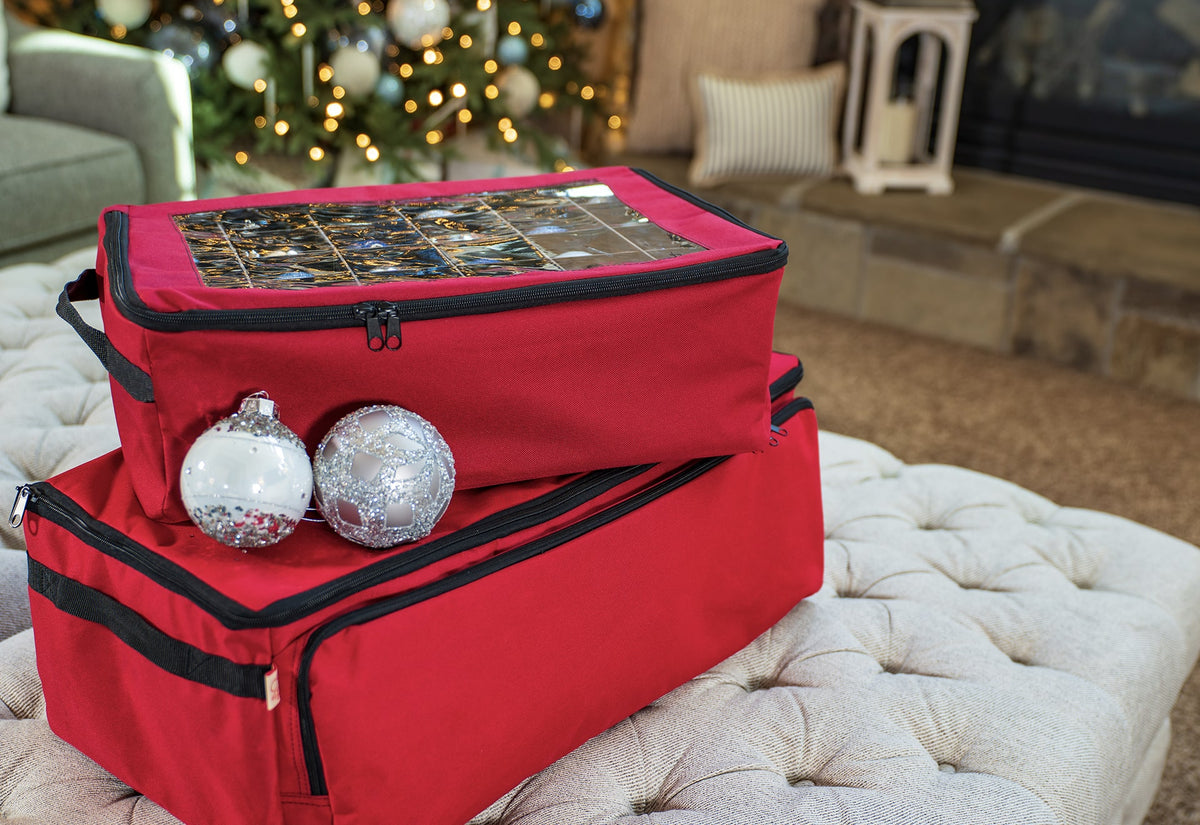 2-Tray Ornament Storage Bag [48 Ornaments]