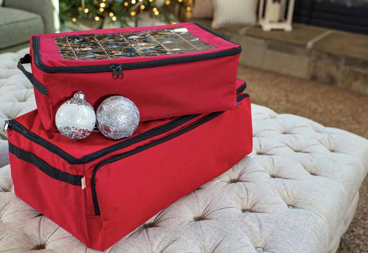 3-Tray Ornament Storage Bag with Side Pockets [72 Ornaments]