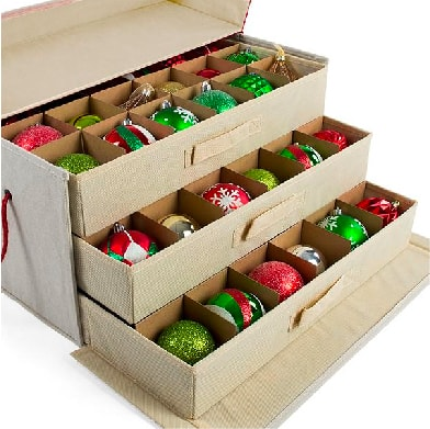 Santa's Bags Ornament Storage Gift Box Series Drawer Style Trays