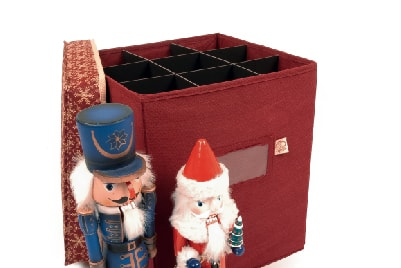 Santa's Bags Nutcracker Storage Gift Box Series in Classic Snowflake color-way