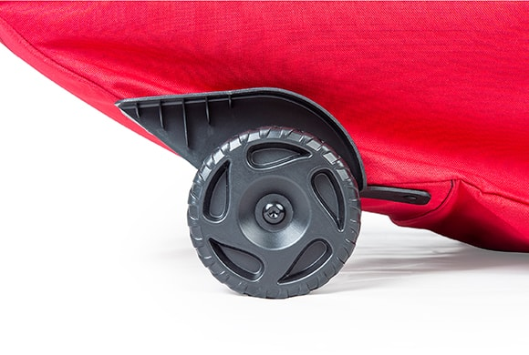 Santa's Bags EZ Roller™ Tree Storage Bag oversized wheels close up