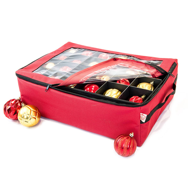 2-Tray Ornament Storage Bag [48 Ornaments] | Santa's Bags