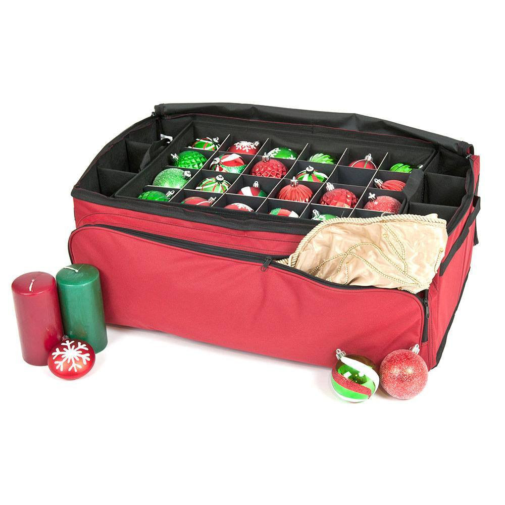 Christmas Ornament Storage.3 Tray Ornament Storage Bag With Side Pockets 72 Ornaments