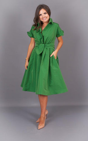 https://walkinwardrobeonline.com/products/green-a-line-dress-with-statement-tie-waist?variant=13926942244925