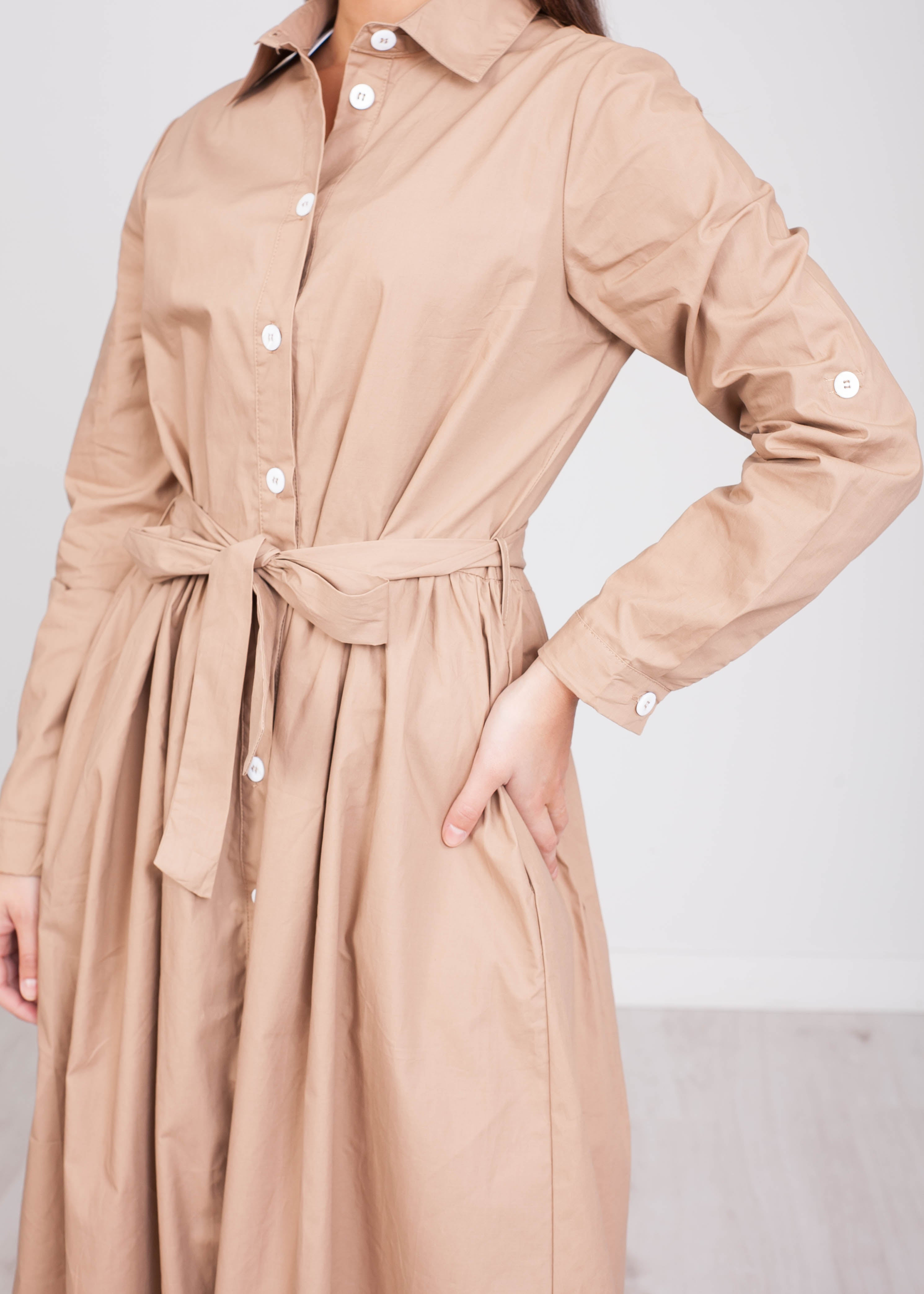 FiFi Beige Midi Dress