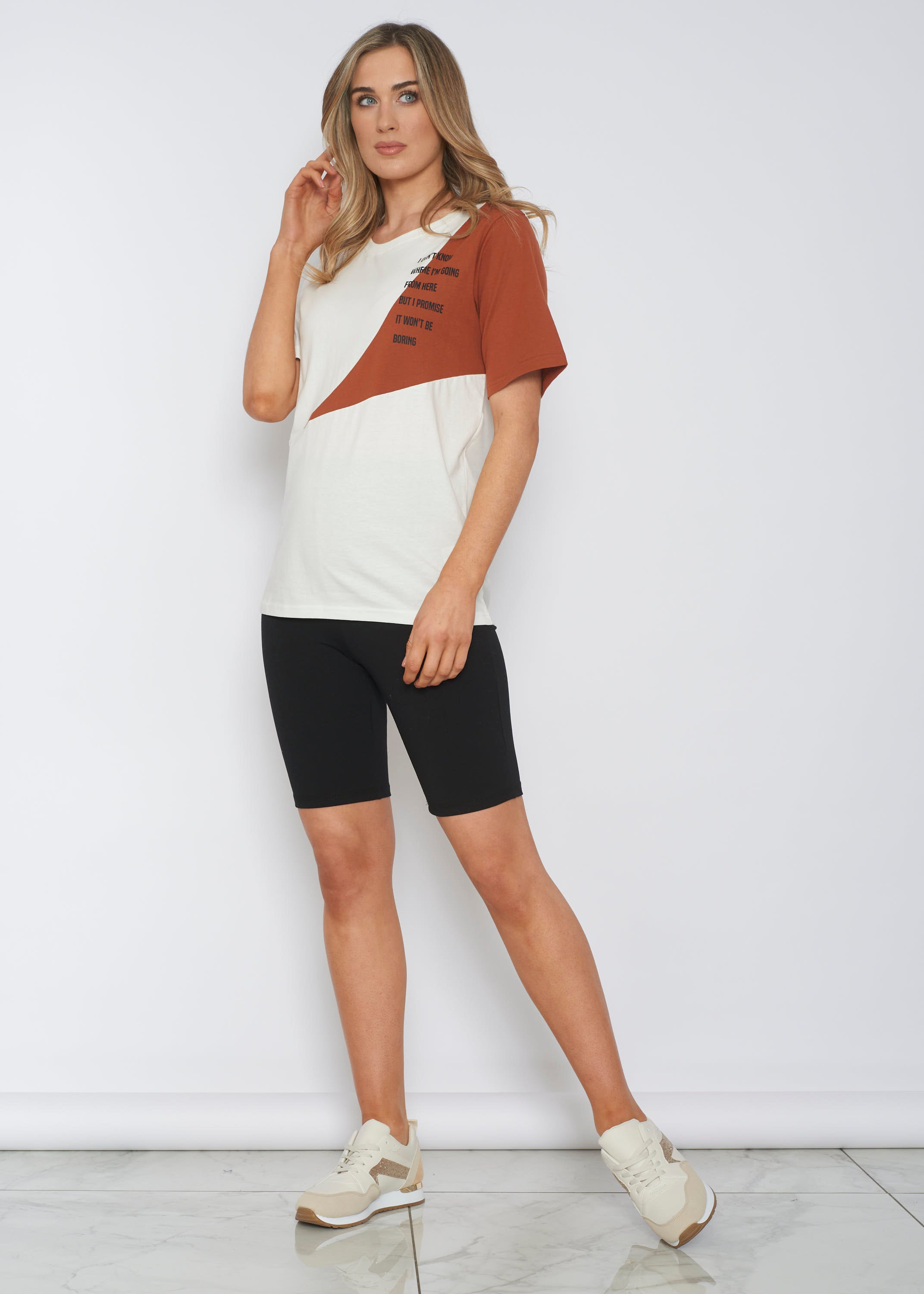 Sophia Printed T-Shirt In Off White
