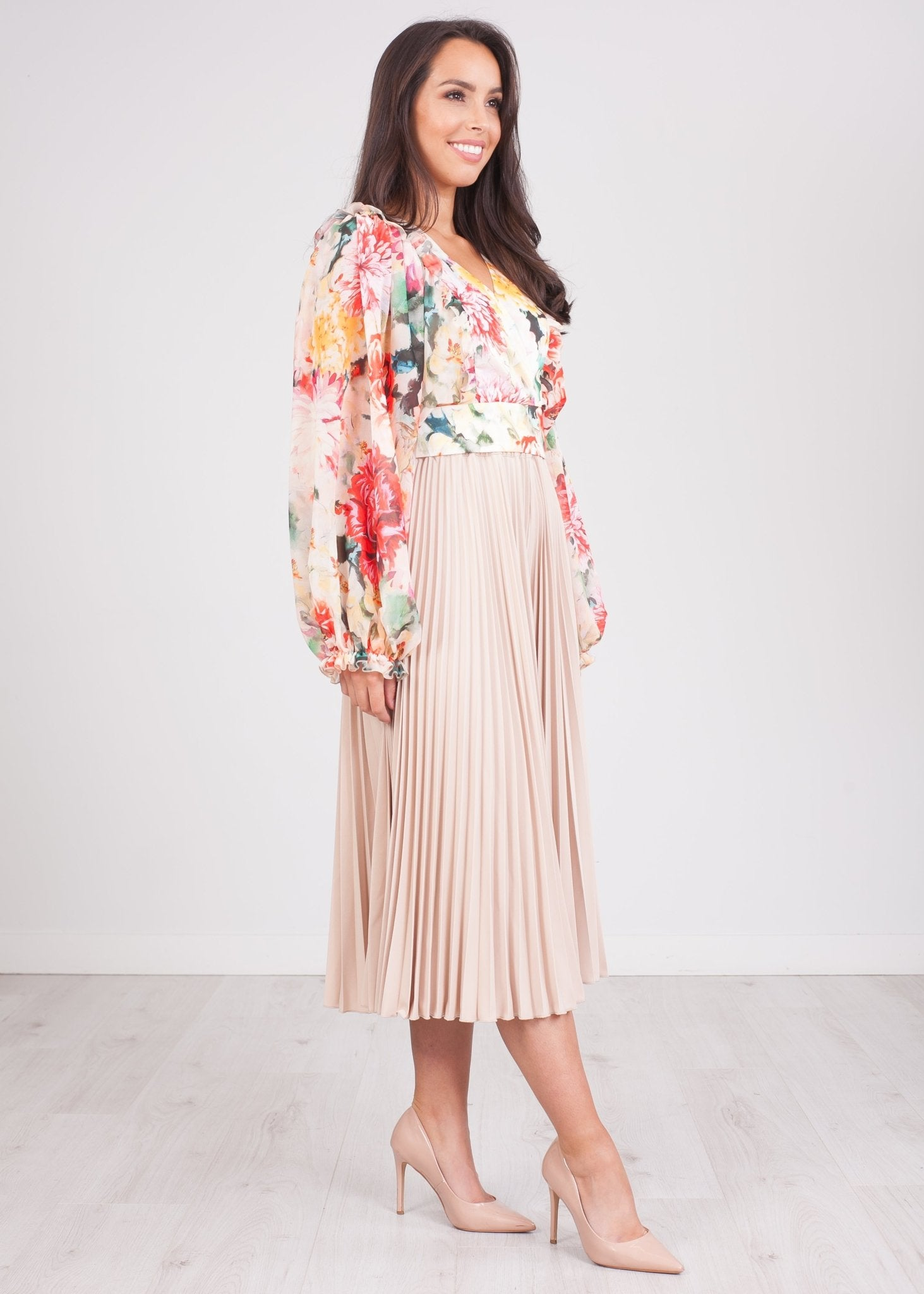 Alana Floral Puff Sleeve Top - The Walk in Wardrobe