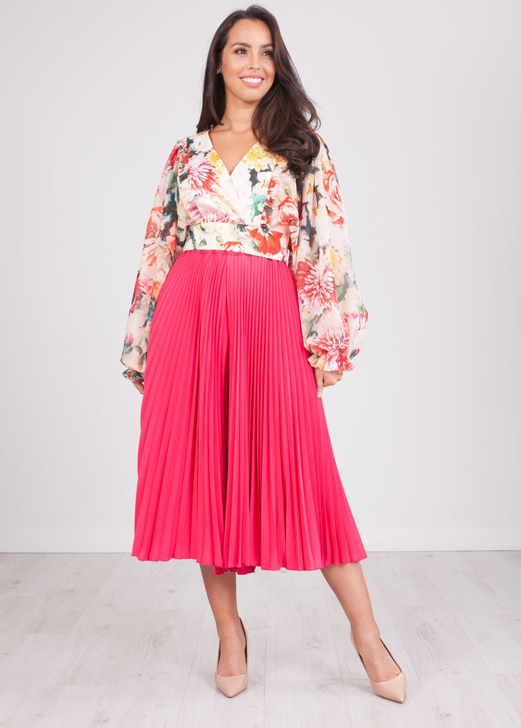 Alana Pink Pleated Culottes - The Walk in Wardrobe