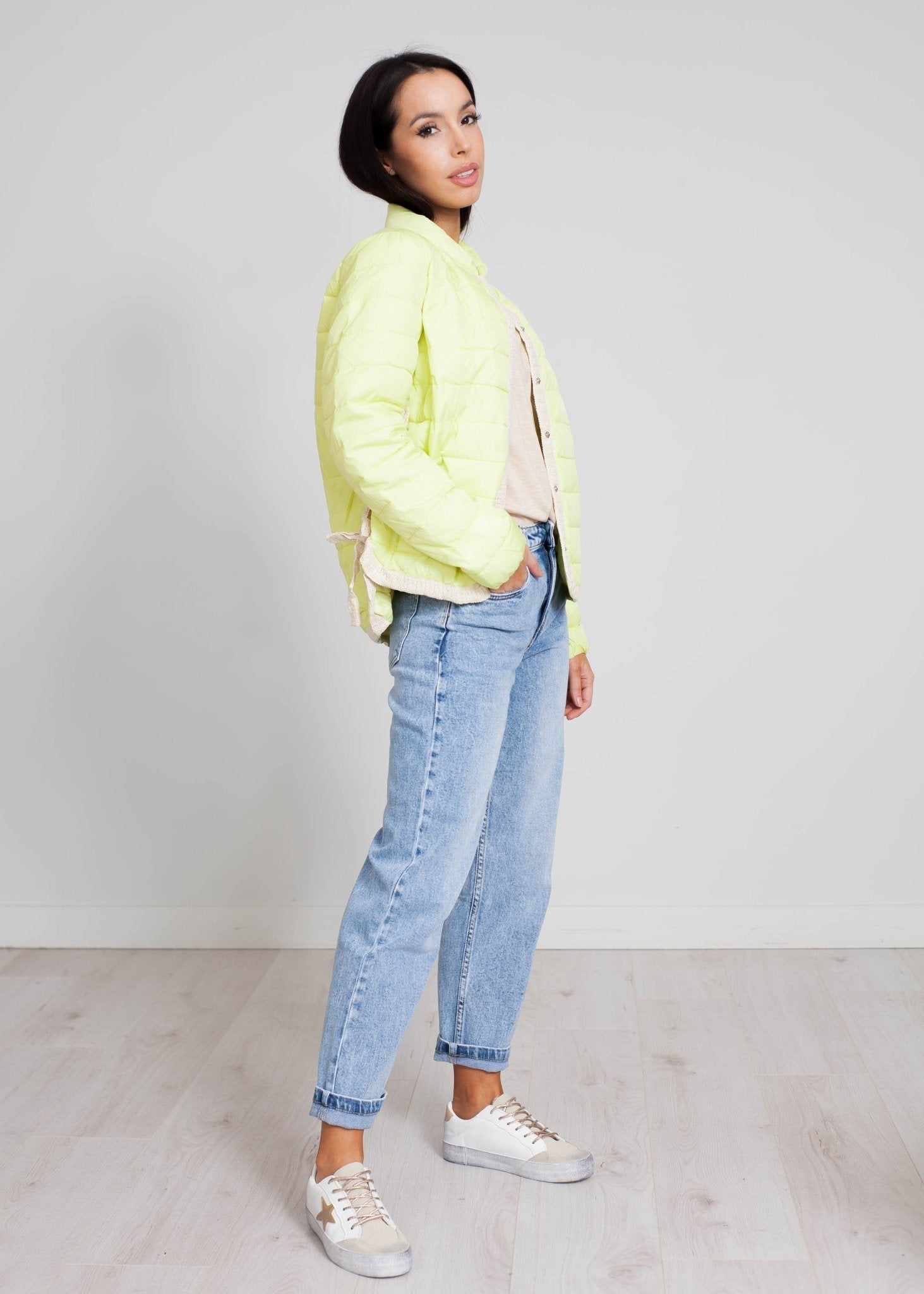 Alba Side Detail Jacket In Lemon - The Walk in Wardrobe