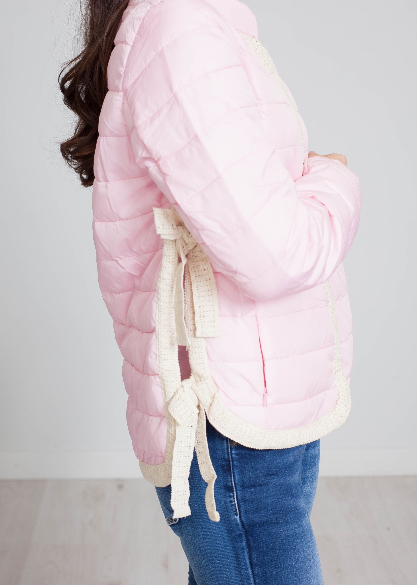 Alba Side Detail Jacket In Pink - The Walk in Wardrobe
