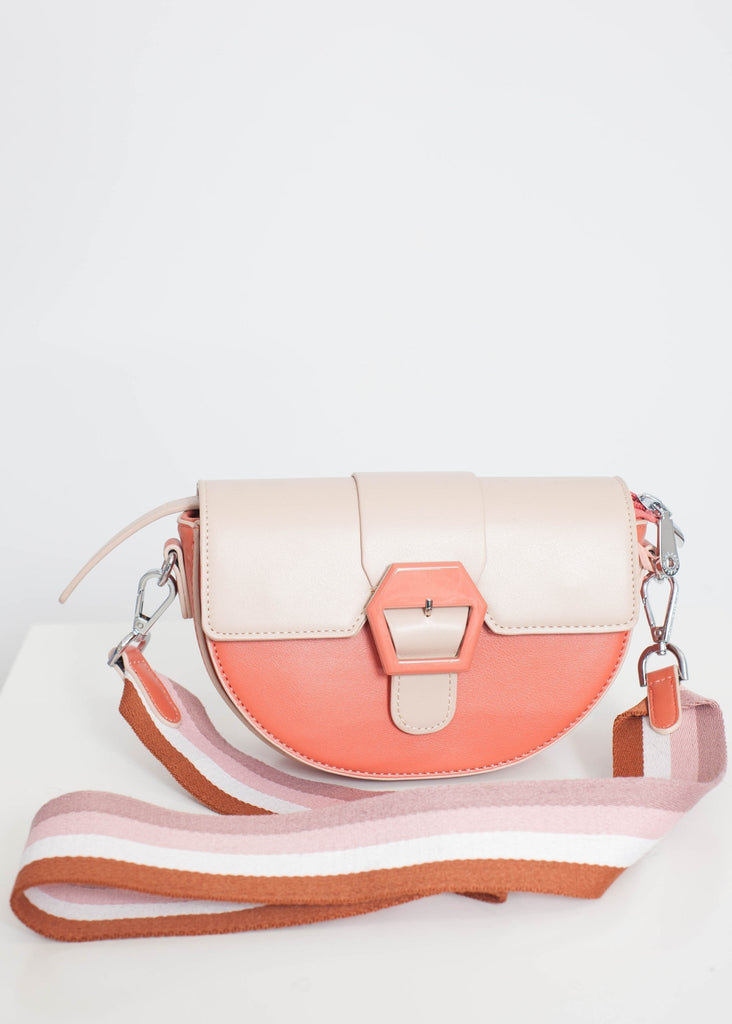 Alex Cross Body Bag In Coral Mix - The Walk in Wardrobe