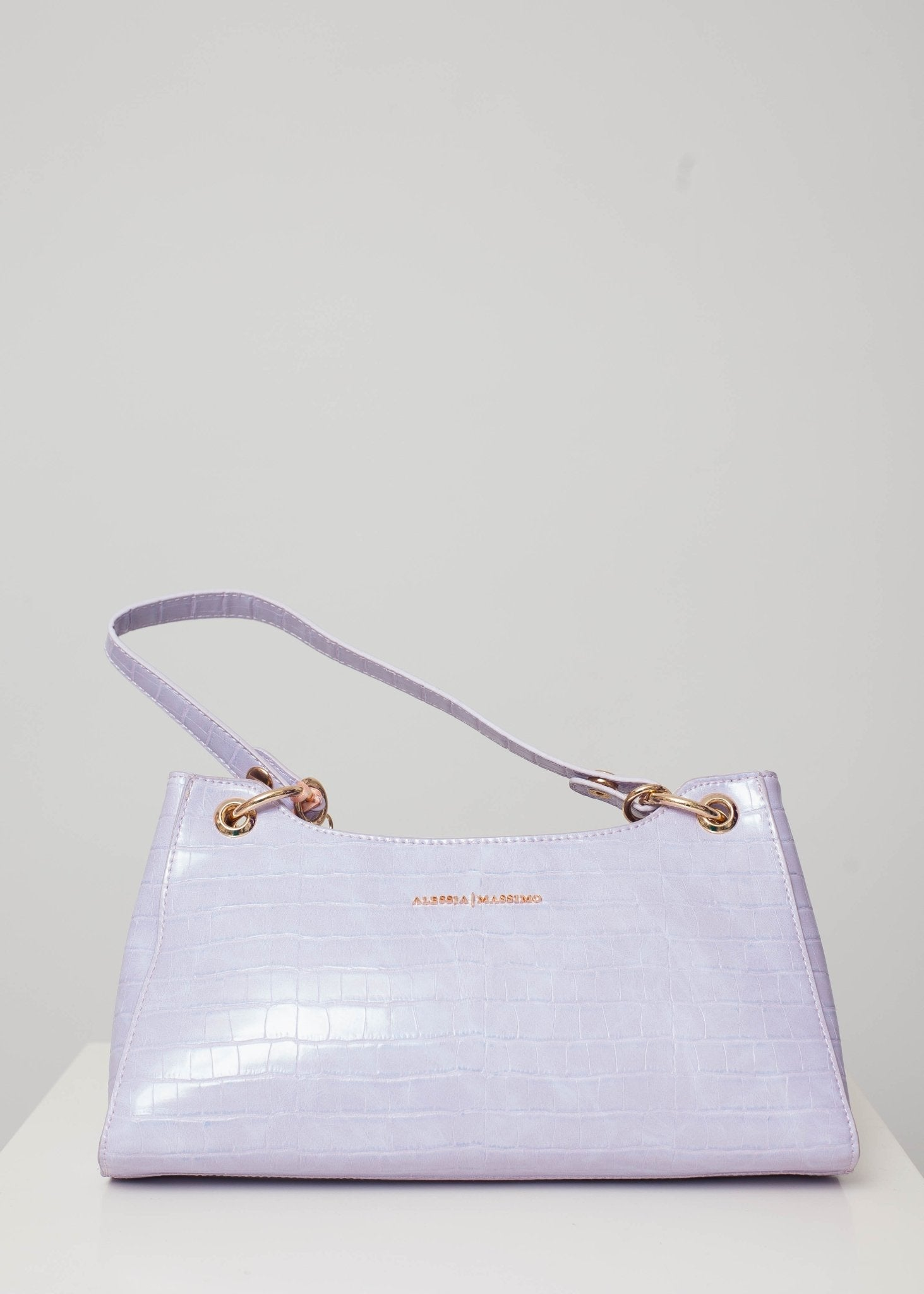 Alex Faux Croc Bag In Lilac - The Walk in Wardrobe