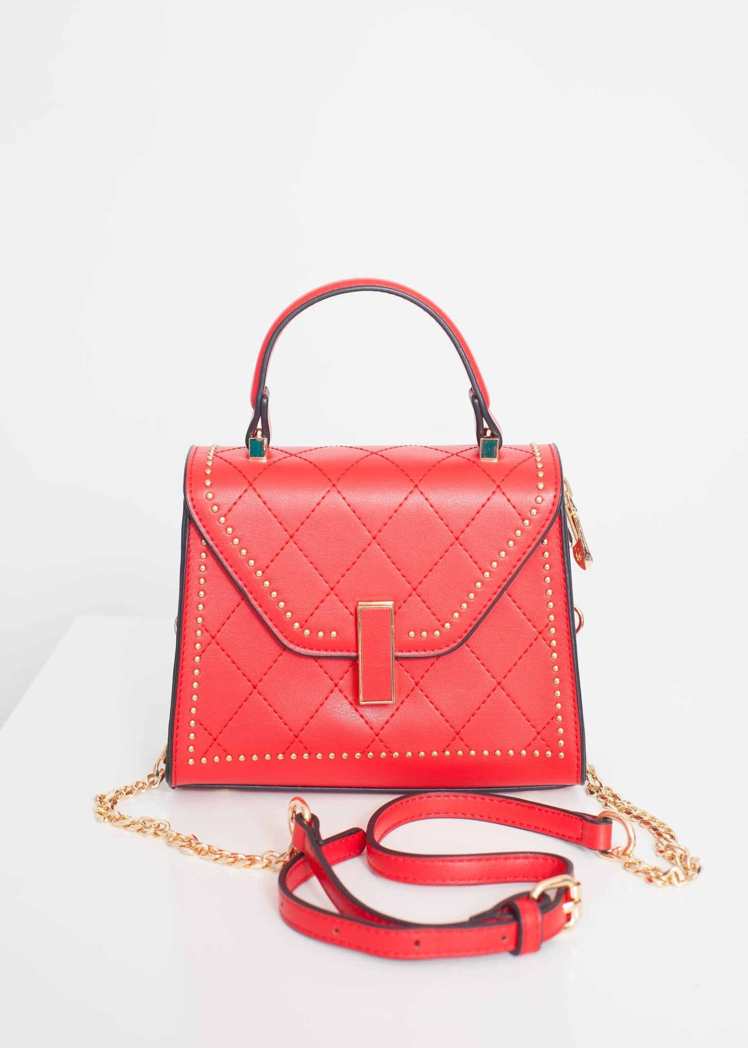 Alex Mini Tote Bag In Red - The Walk in Wardrobe