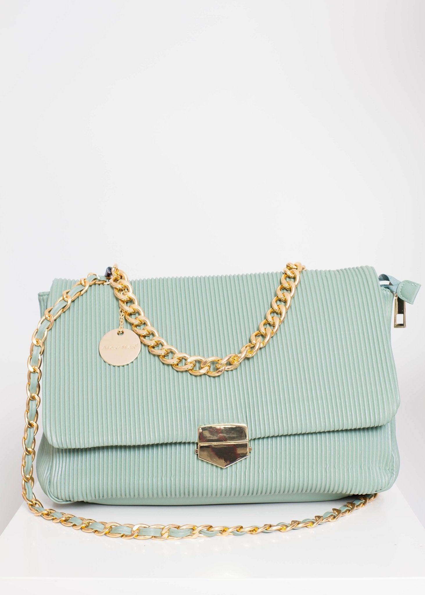 Alex Ribbed Bag In Sage - The Walk in Wardrobe