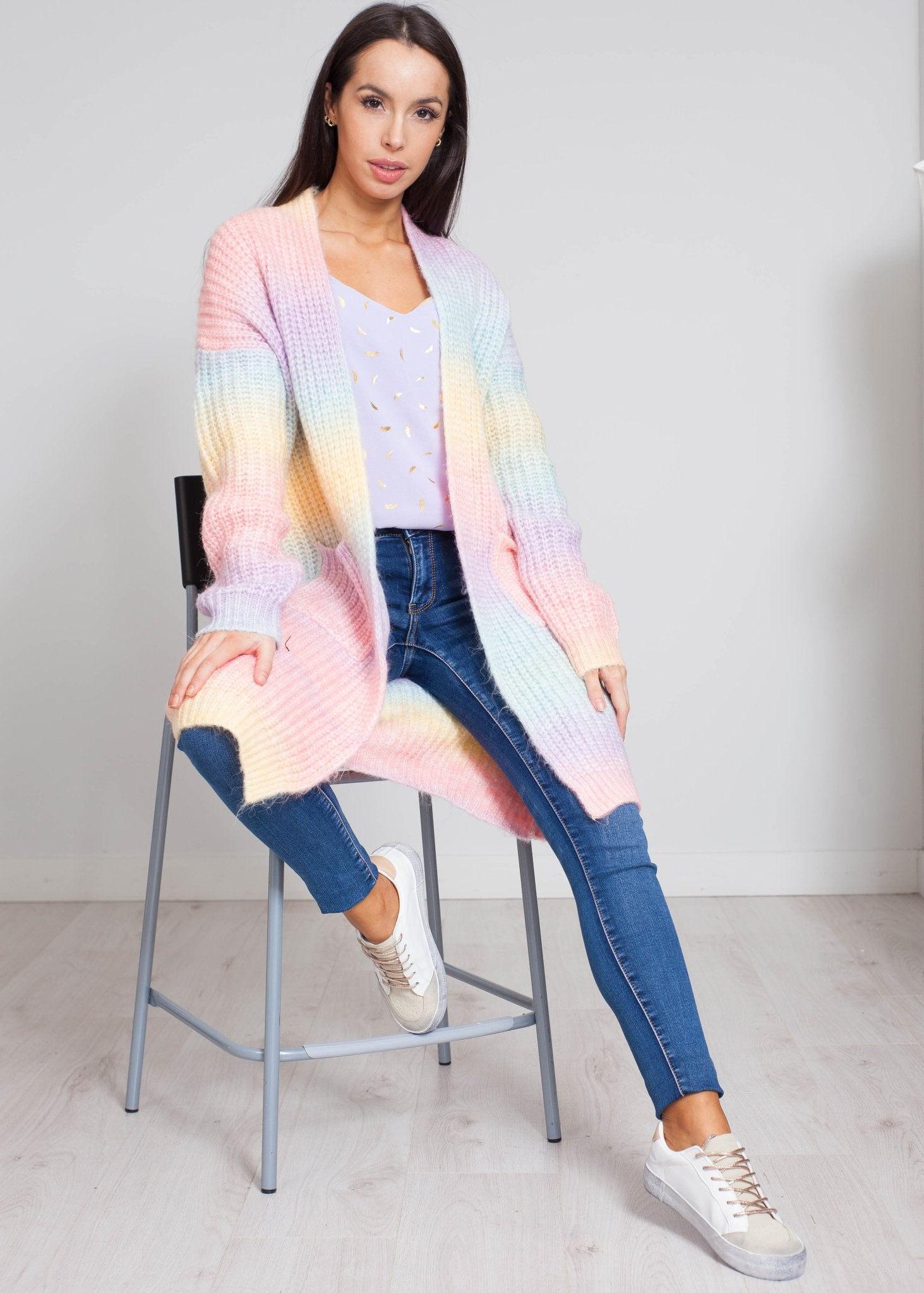 Alice Cardigan In Rainbow Mix - The Walk in Wardrobe