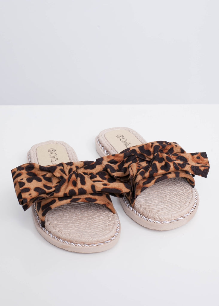Alice Leopard Print Sliders - The Walk in Wardrobe