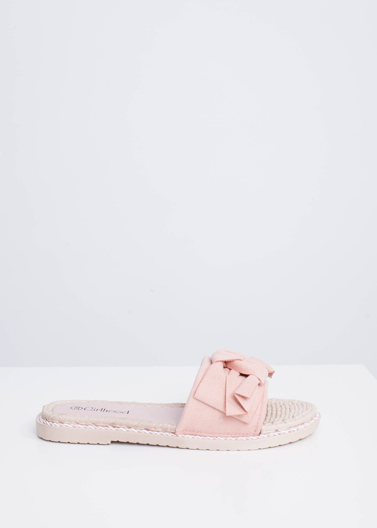 Alice Pink Bow Sliders - The Walk in Wardrobe