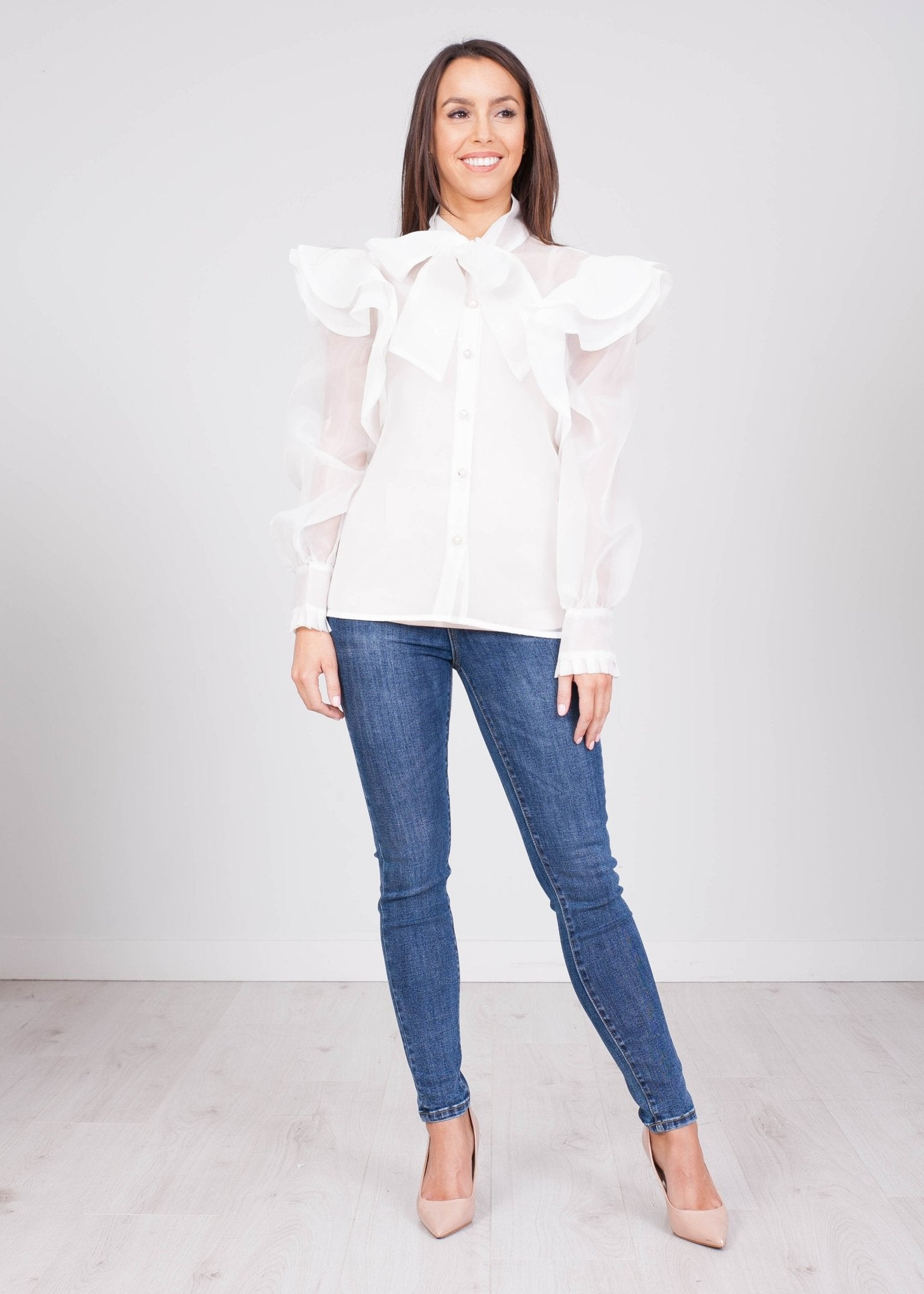 Alice White Sheer Blouse - The Walk in Wardrobe