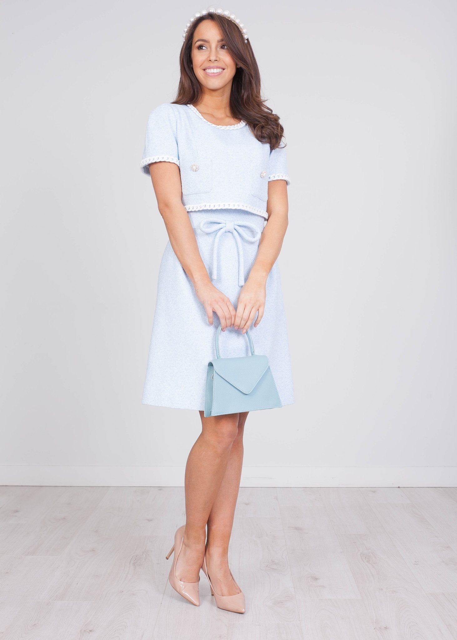 Aliyah Blue Dress - The Walk in Wardrobe