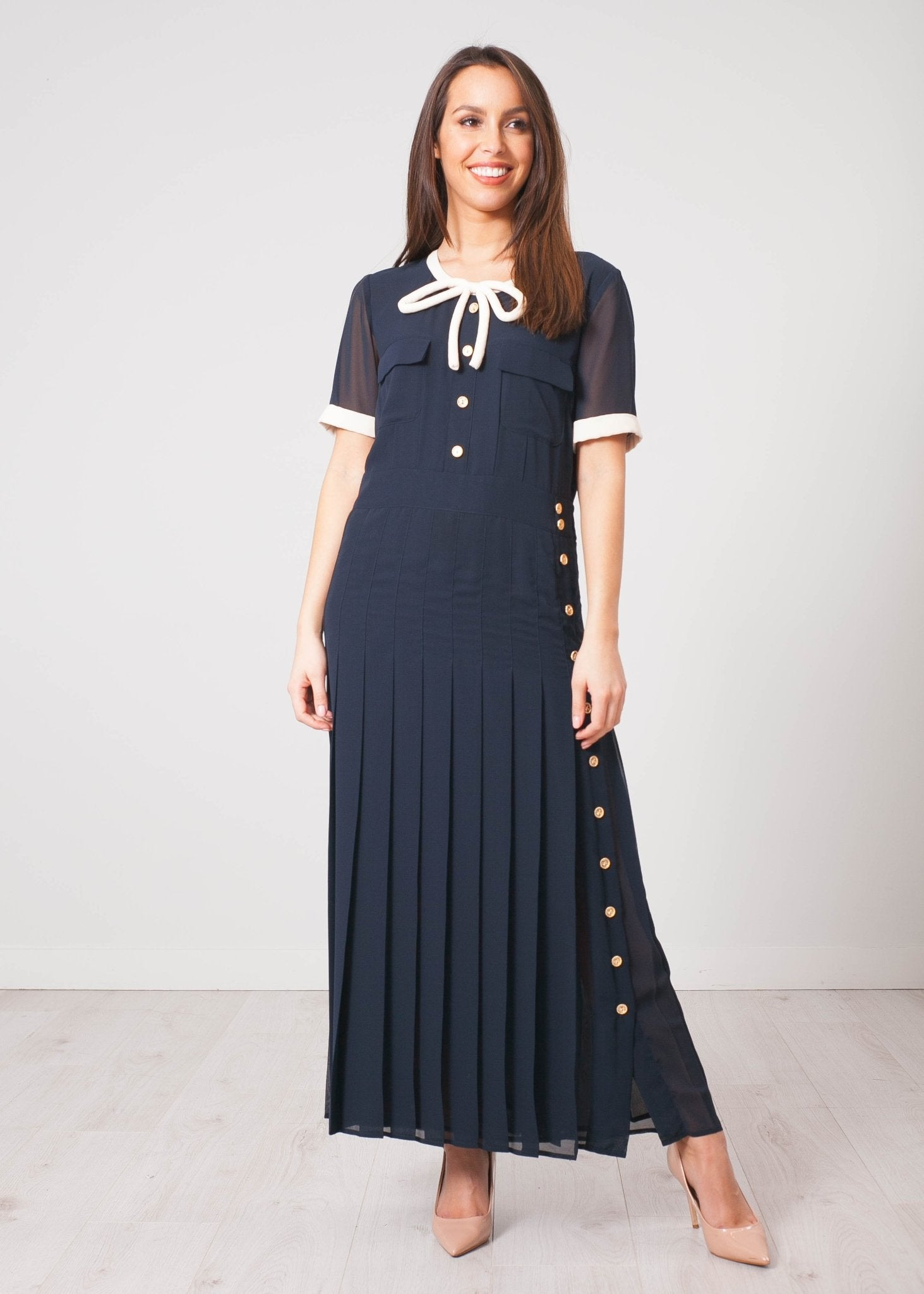 Aliyah Navy Dress - The Walk in Wardrobe
