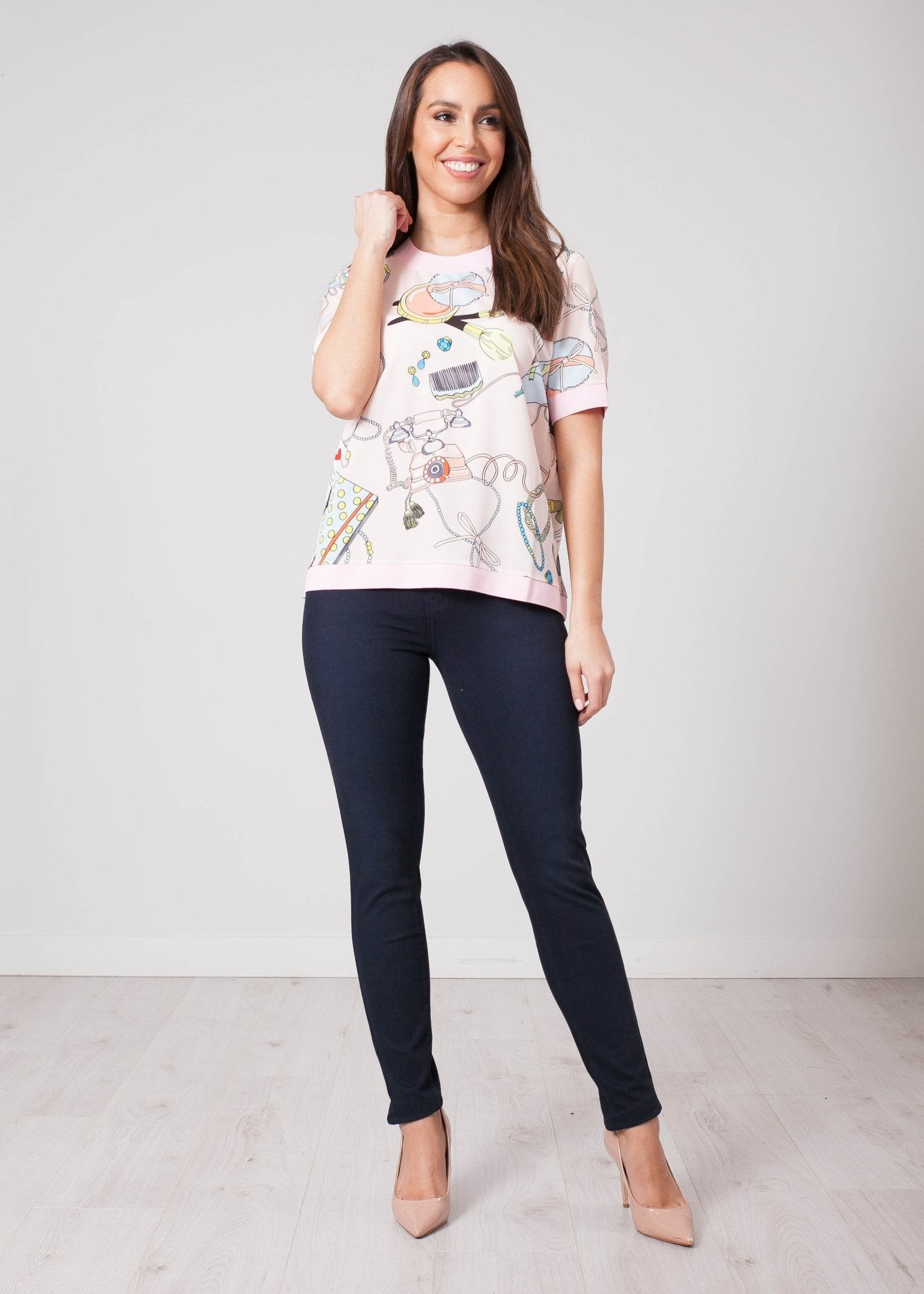 Aliyah Printed Pink Top - The Walk in Wardrobe