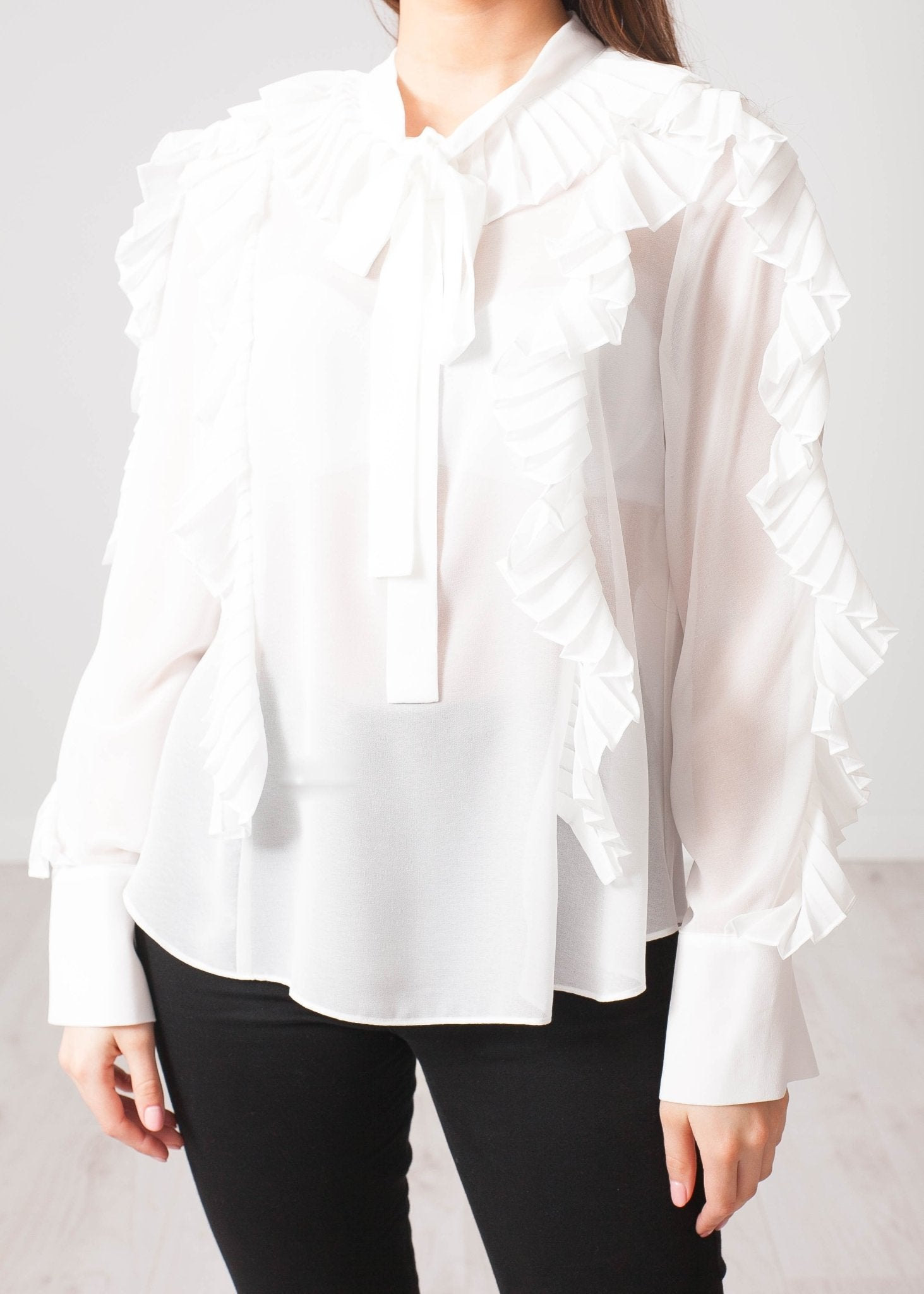 Aliyah White Blouse - The Walk in Wardrobe