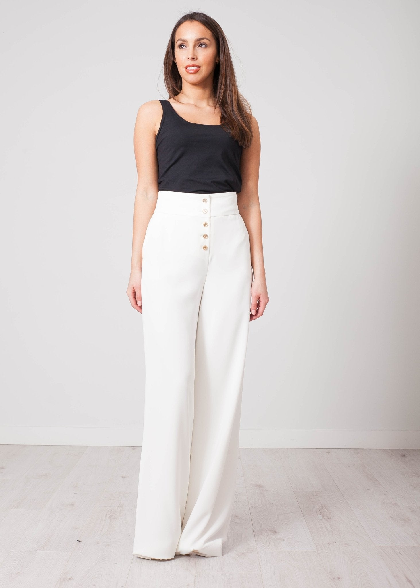 Aliyah White Trousers - The Walk in Wardrobe