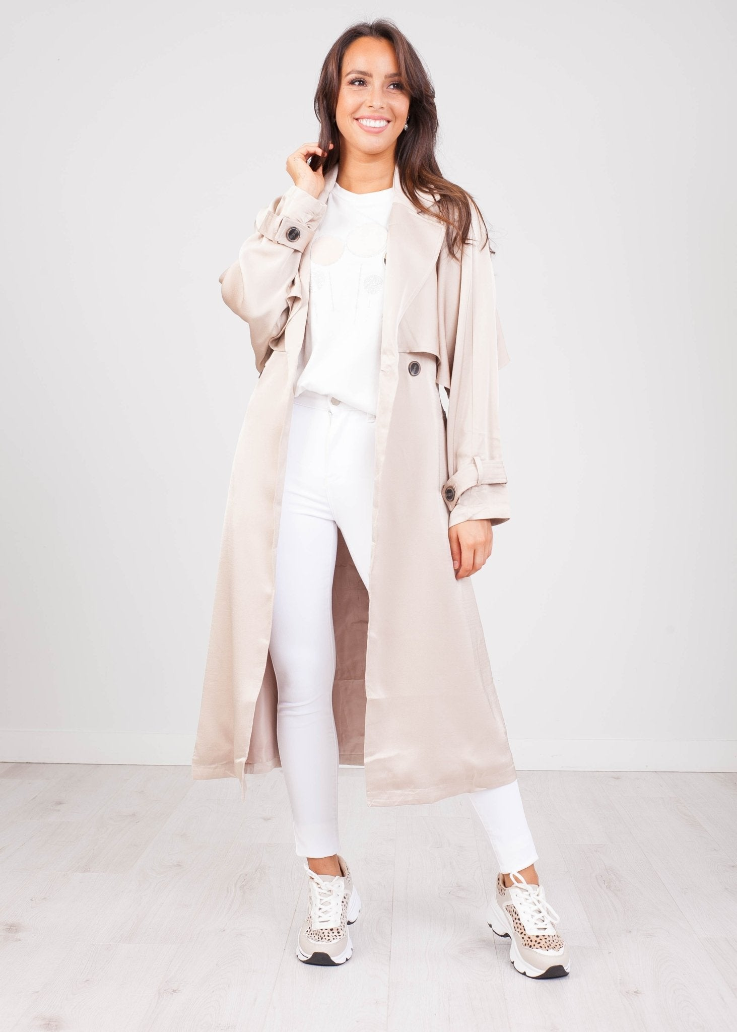 Arabella Beige Trench - The Walk in Wardrobe