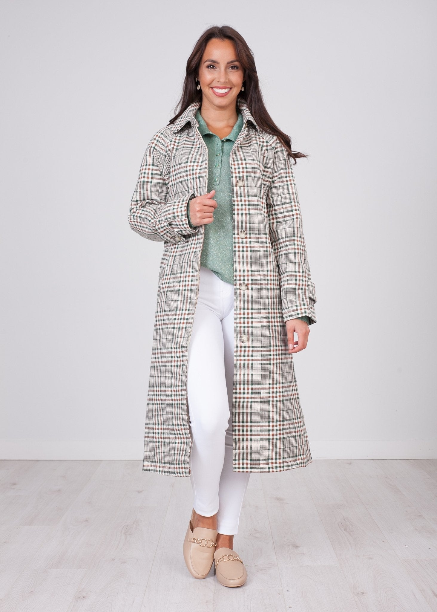 Arabella Check Trench - The Walk in Wardrobe