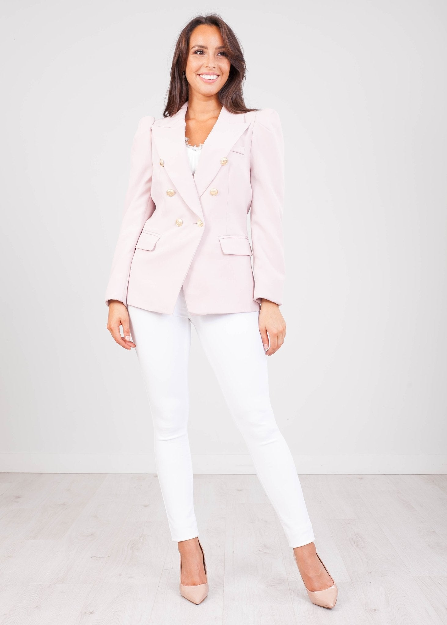 Arabella Dusky Pink Blazer - The Walk in Wardrobe