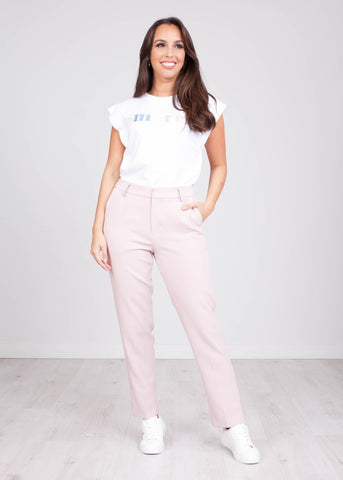 Arabella Dusky Pink Trousers - The Walk in Wardrobe
