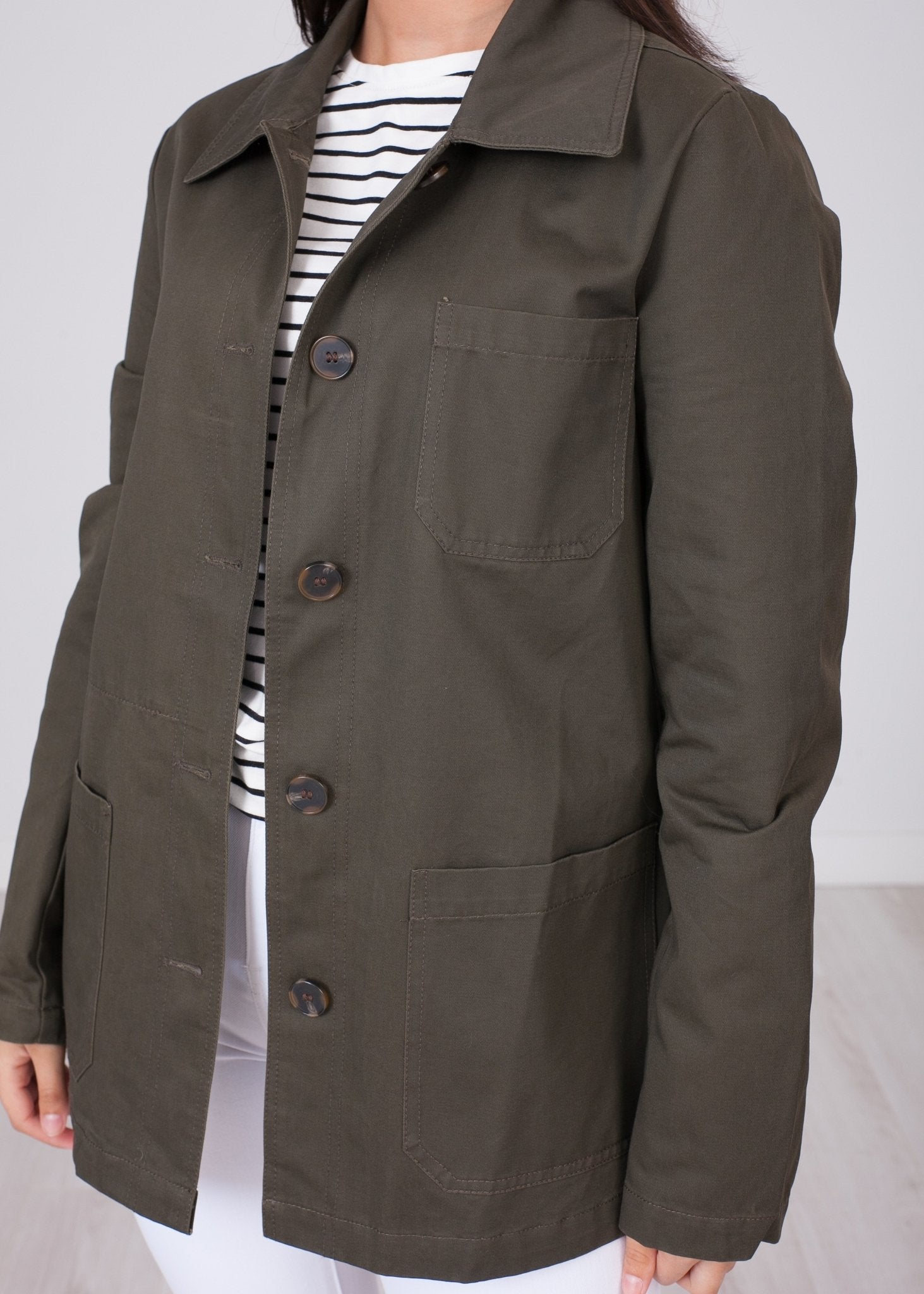 Arabella Khaki Jacket - The Walk in Wardrobe