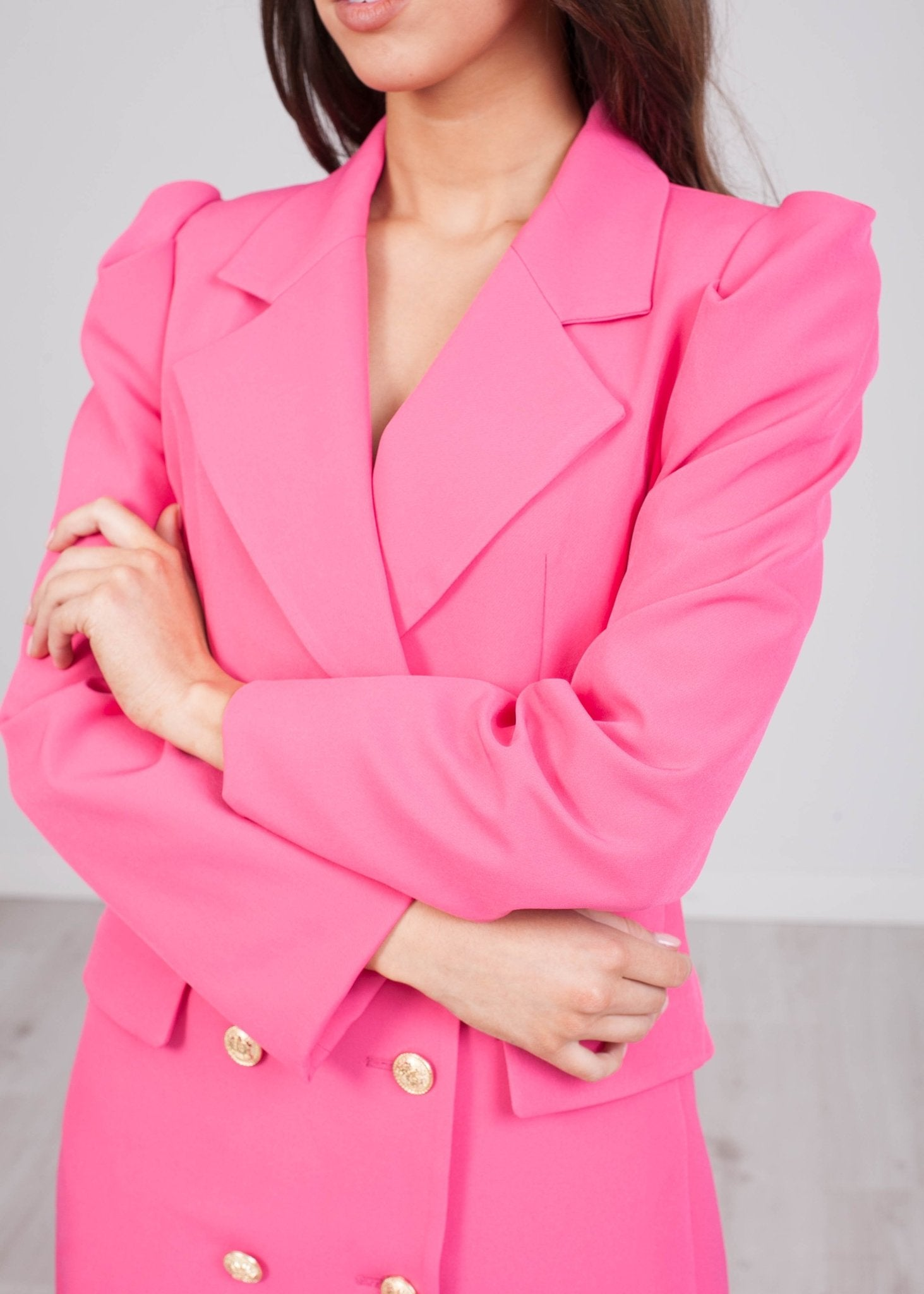 Arabella Pink Blazer Dress - The Walk in Wardrobe