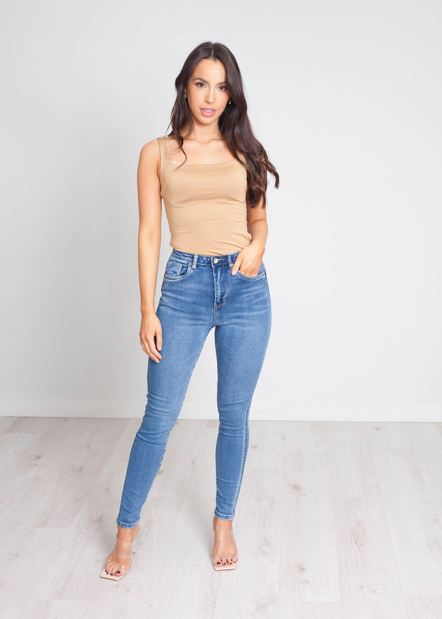 Avery High Waist Skinny Jean In Denim - The Walk in Wardrobe