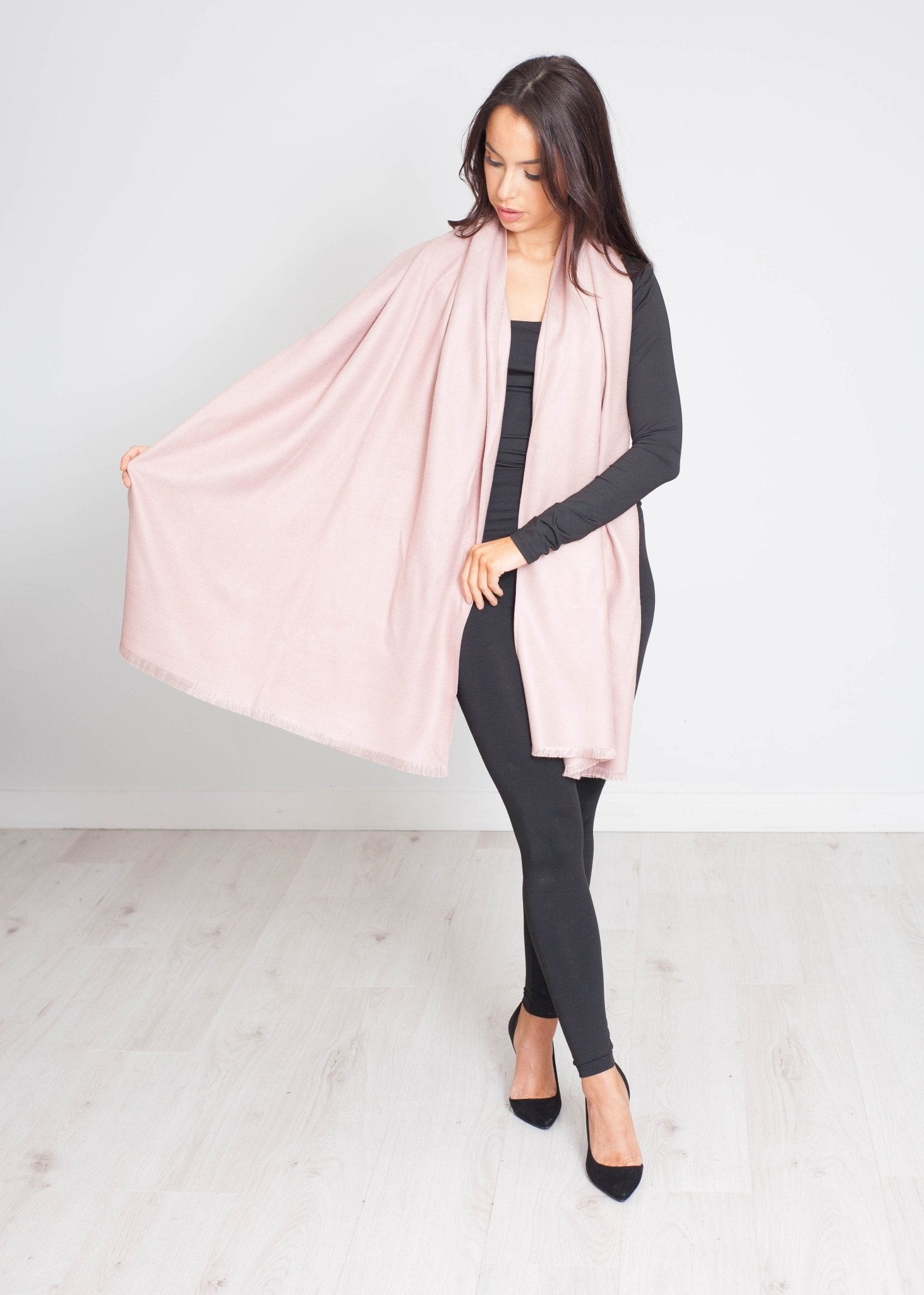 Blair Luxury Scarf In Rose - The Walk in Wardrobe