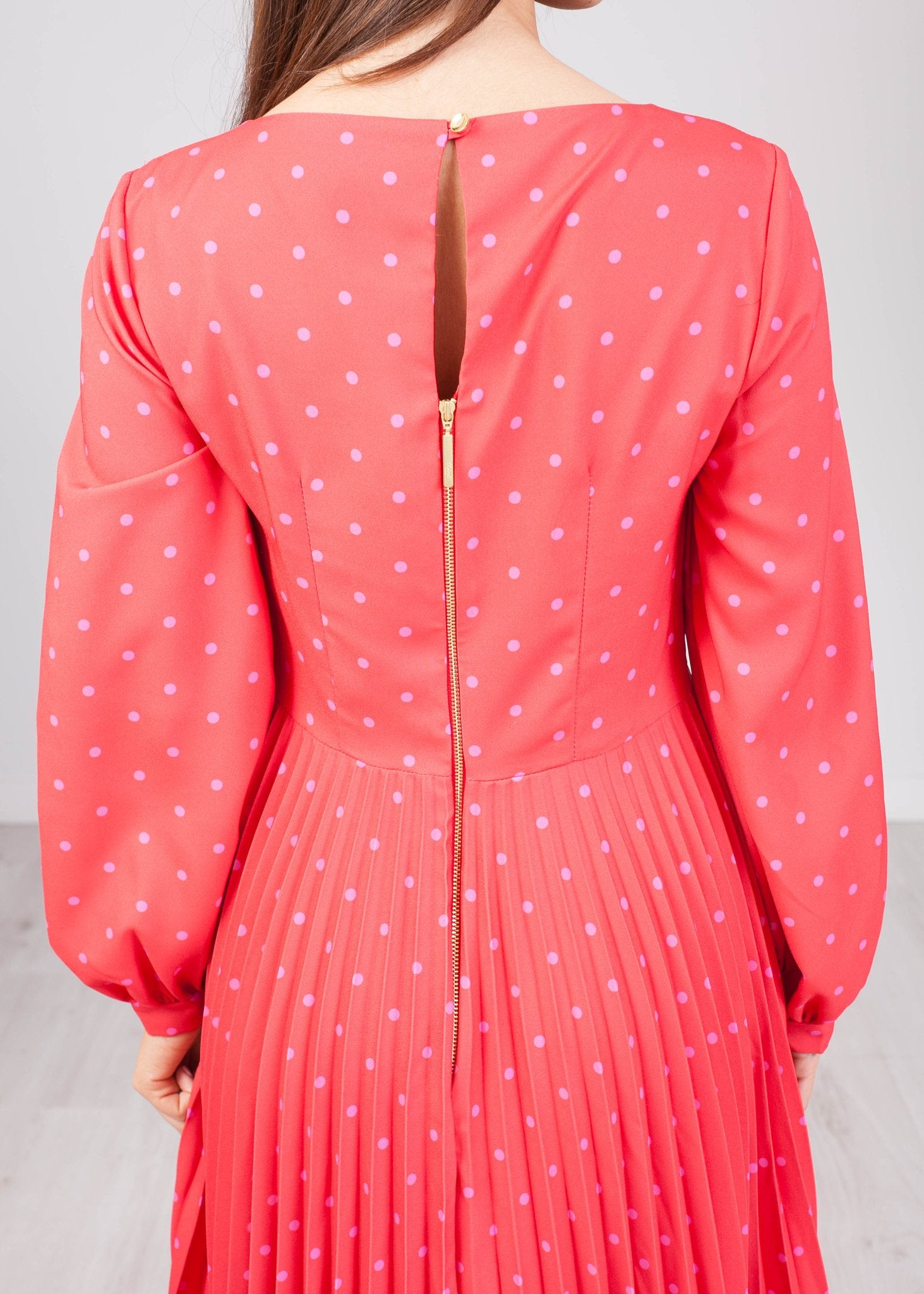 Cara Red Polka Dot Dress - The Walk in Wardrobe