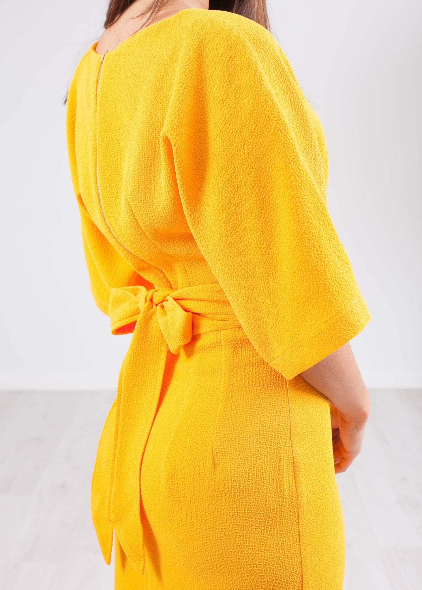 Cara Yellow Kimono Dress - The Walk in Wardrobe