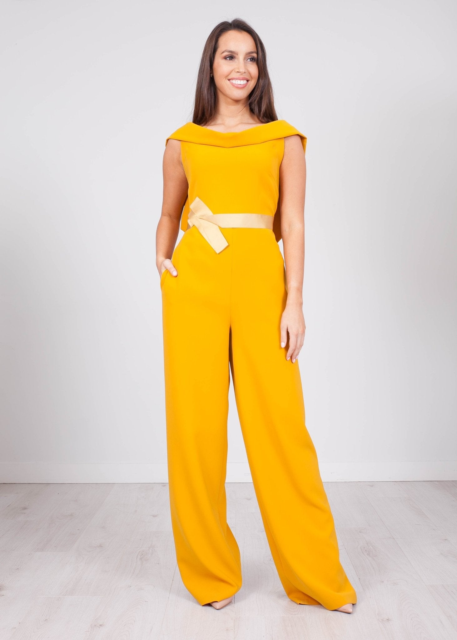 Carla Mustard Jumpsuit - The Walk in Wardrobe