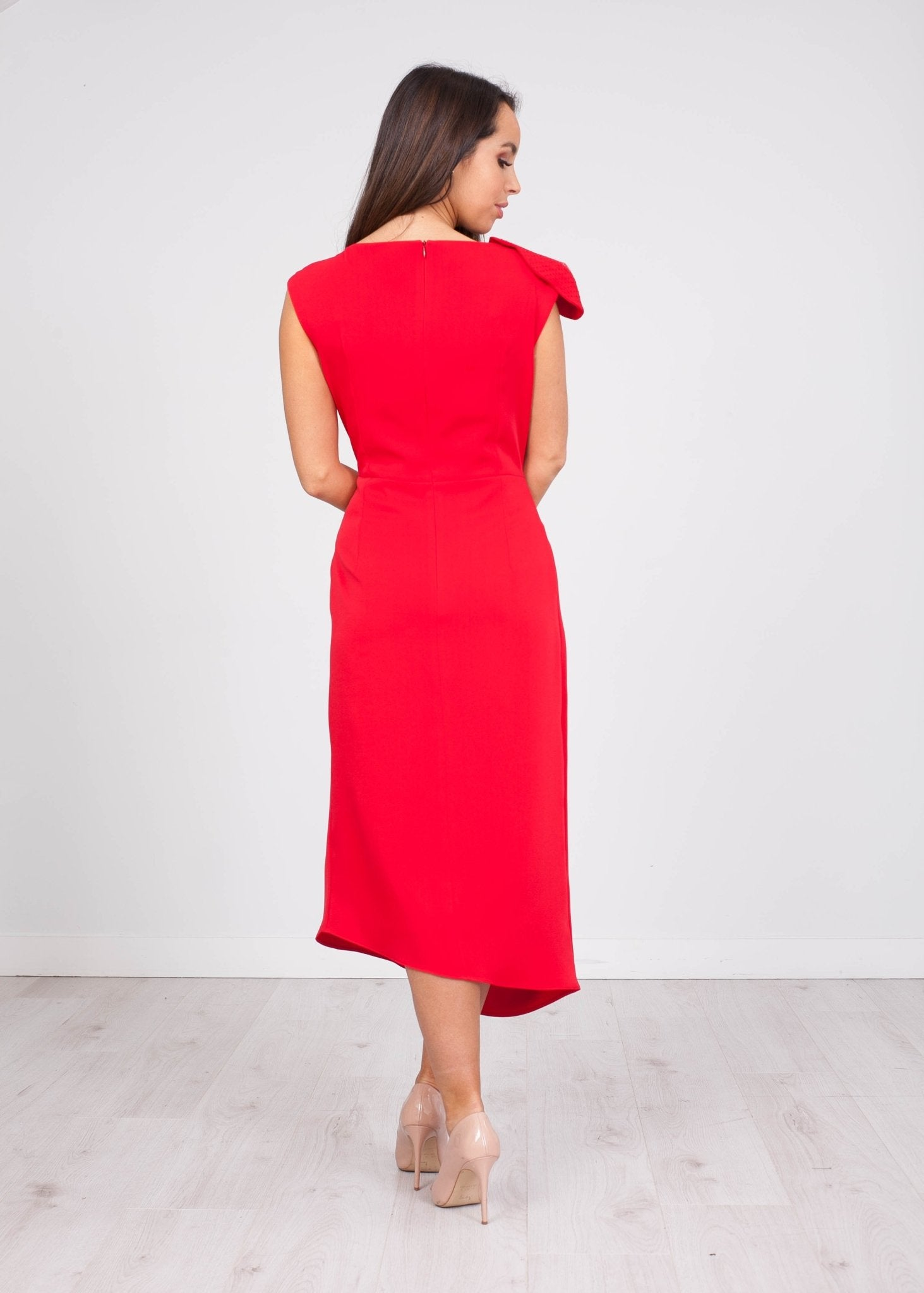 Carla Paloma Red Dress - The Walk in Wardrobe