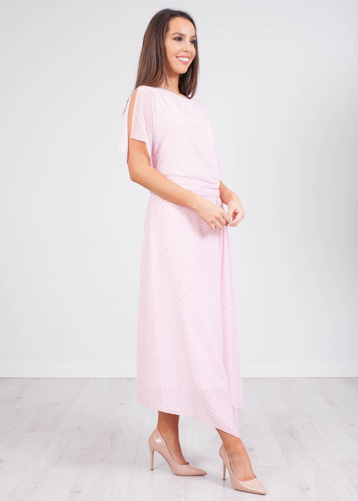Carla Pink Polka Dot Dress - The Walk in Wardrobe