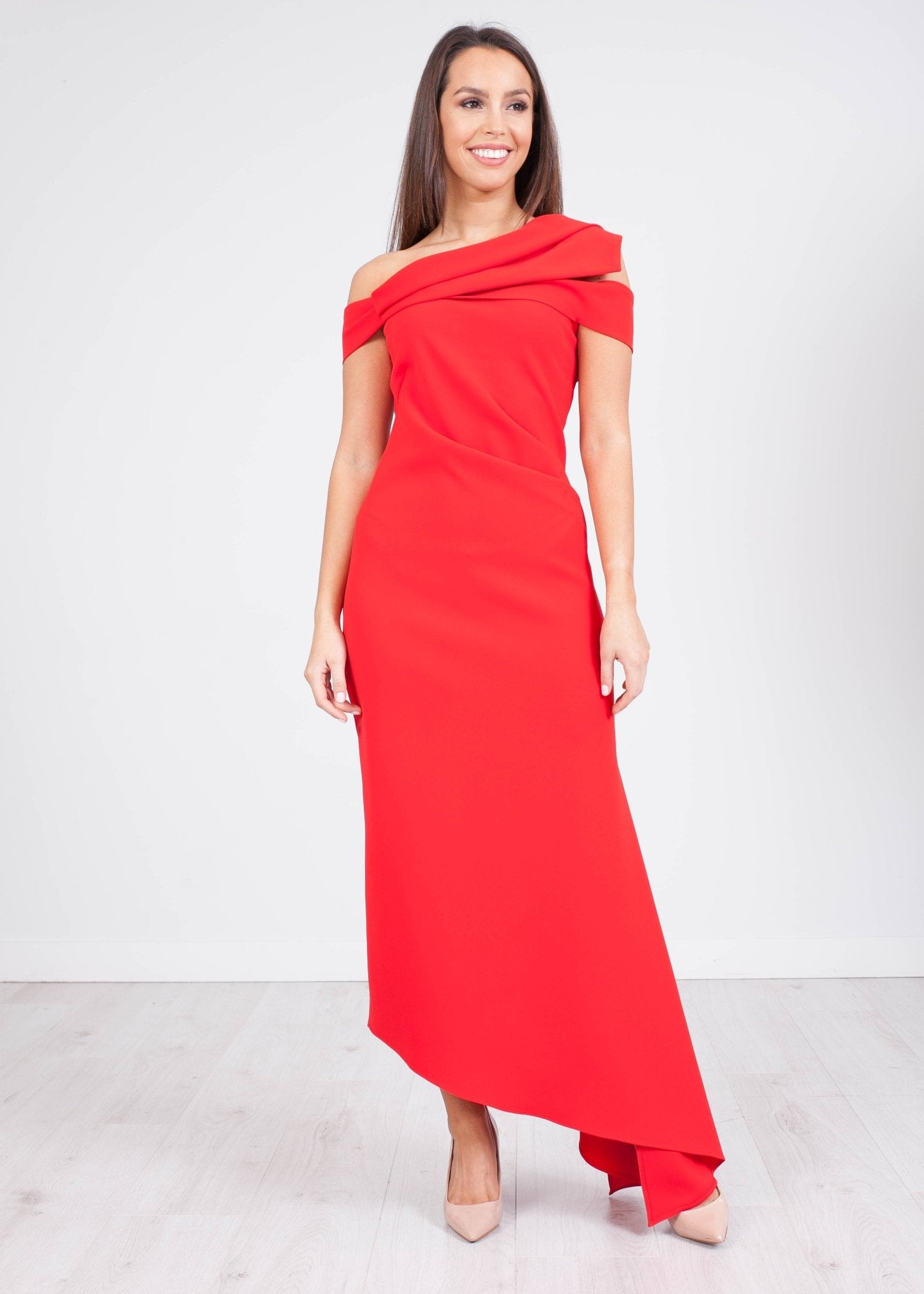 Carla Red Bianca Dress - The Walk in Wardrobe