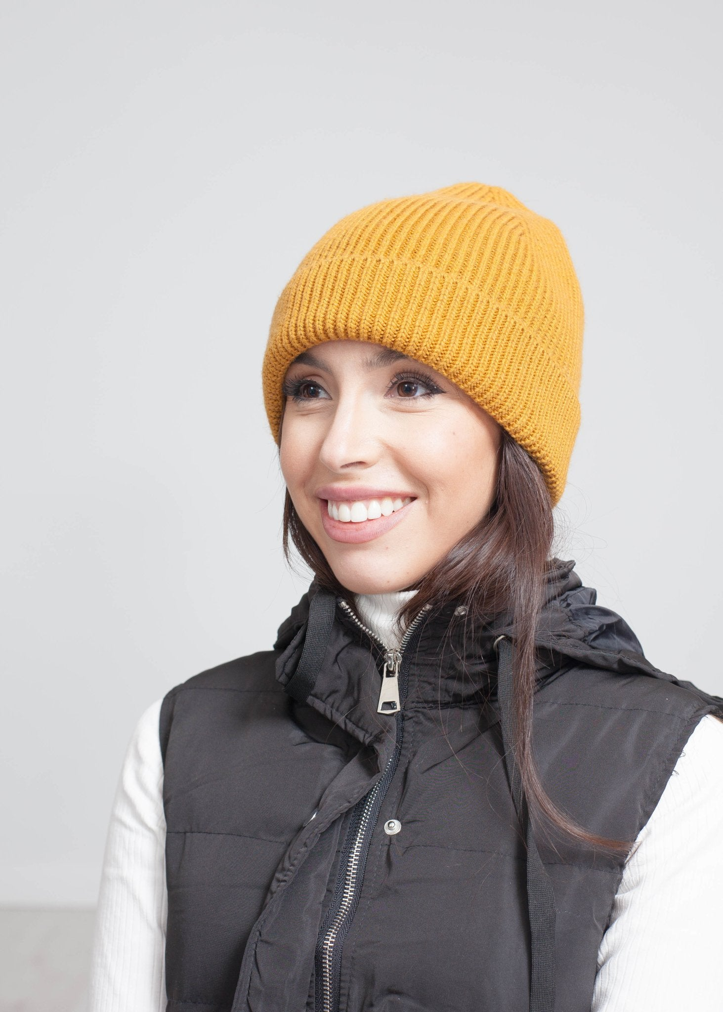 Carly Knit Hat In Mustard - The Walk in Wardrobe