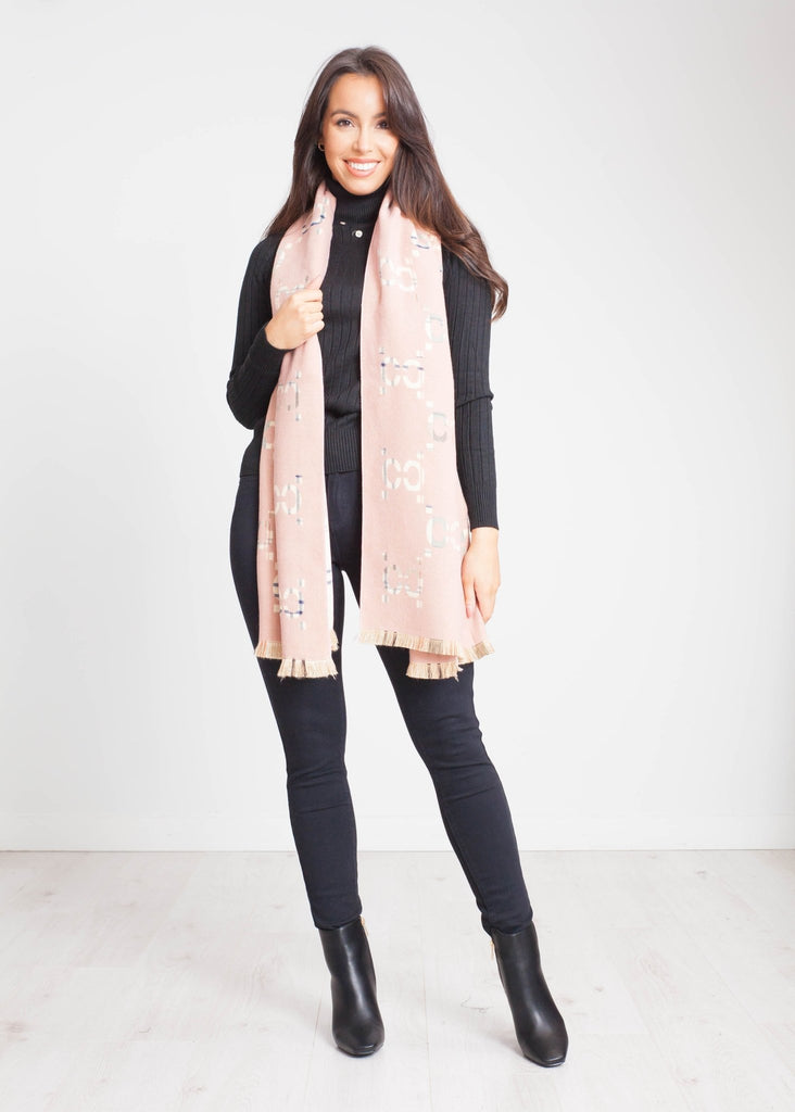 Carly Reversible Scarf In Pink Mix - The Walk in Wardrobe