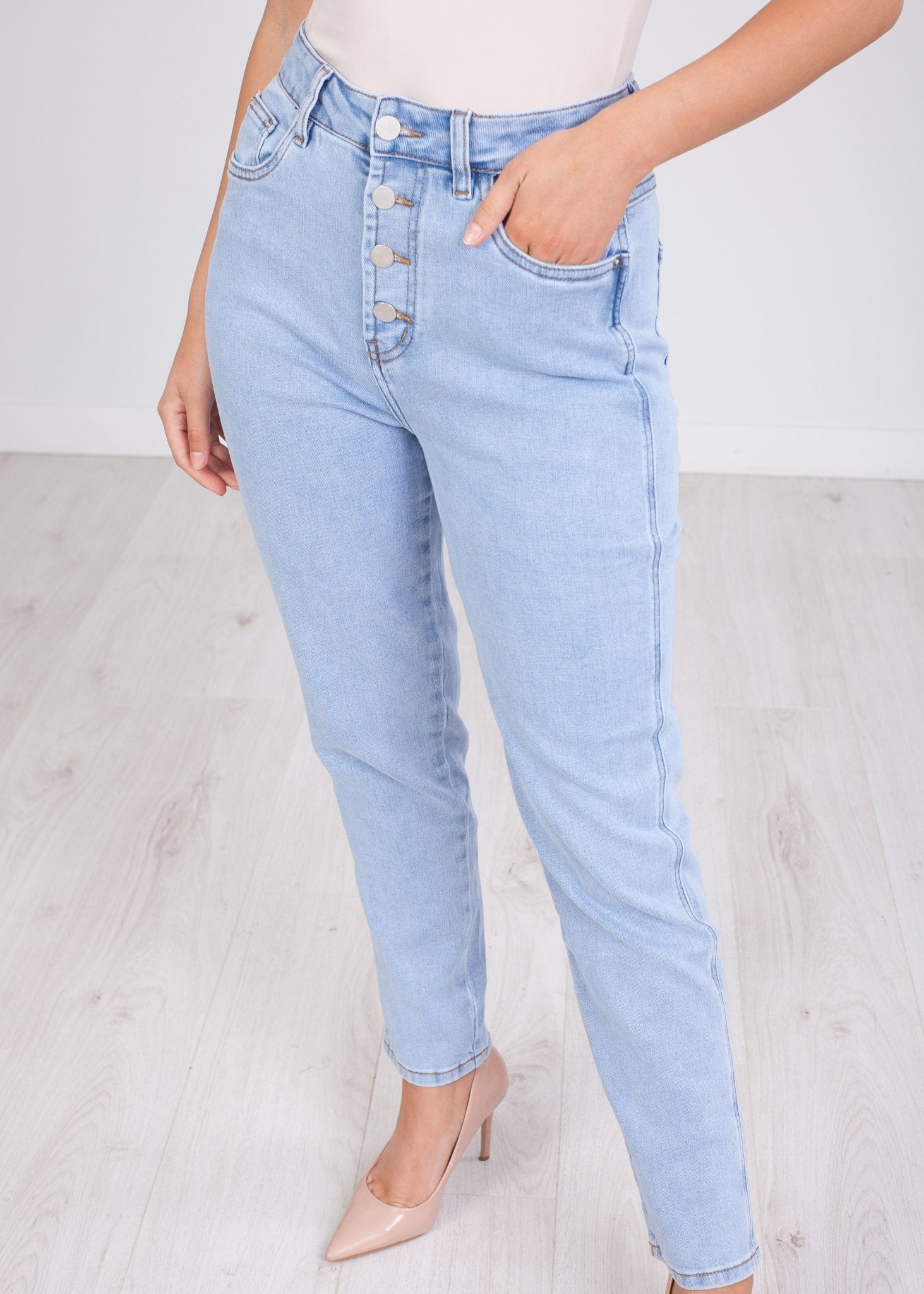 'Caroline' 4 Button Jeans - The Walk in Wardrobe