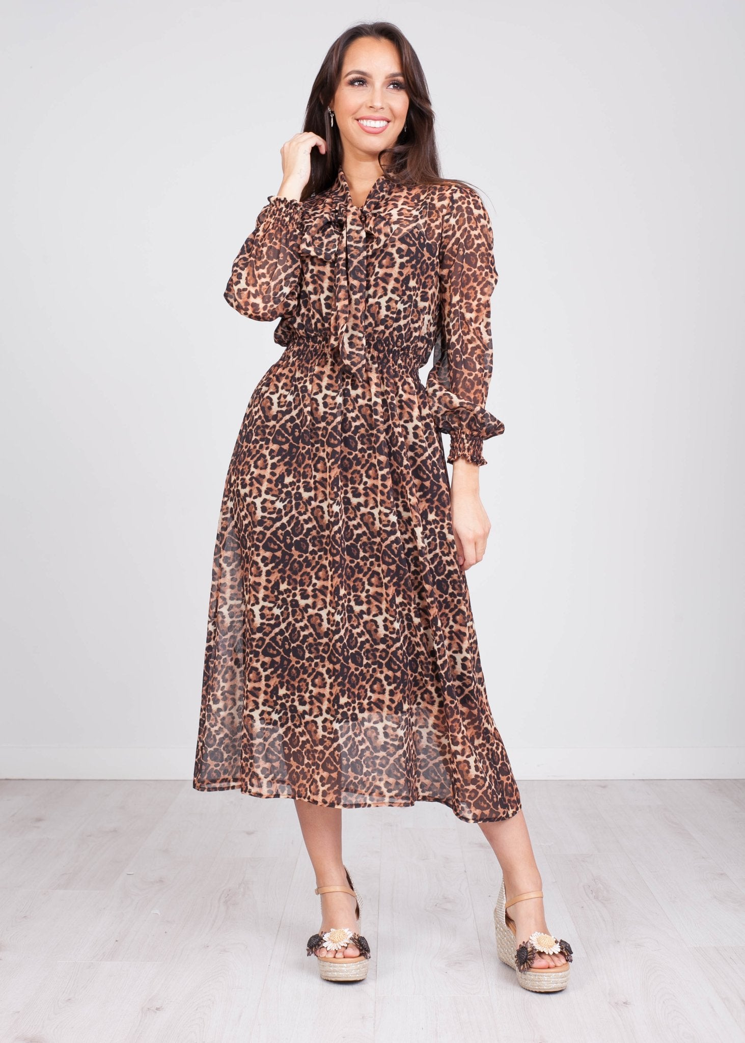 Charlee Animal Print Dress - The Walk in Wardrobe