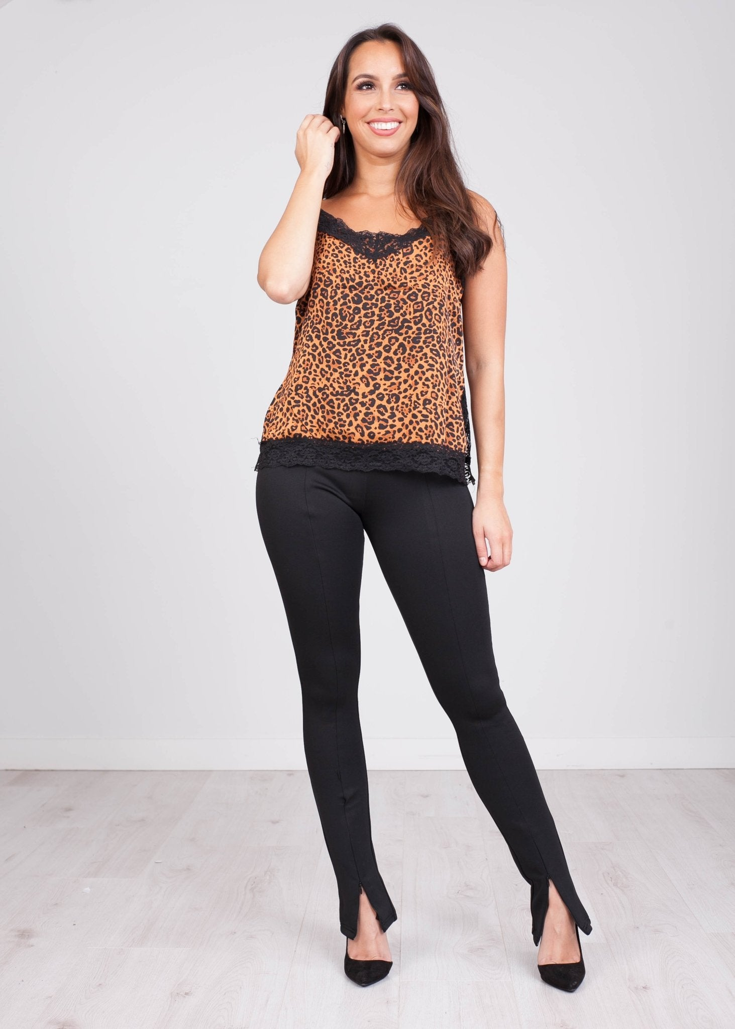 Charlee Black Zip Trousers - The Walk in Wardrobe